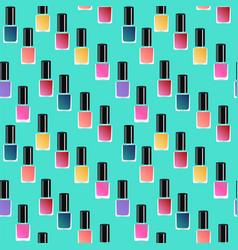 Flat manicure gel polish background vector