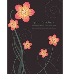 floral poster vector image