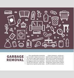 Garbage removal informative promo banner vector