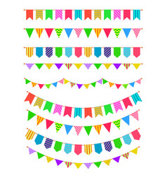 Garland with flags rainbow garlands hanging vector