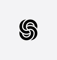 Geometric knot logo black icon infinity symbol vector