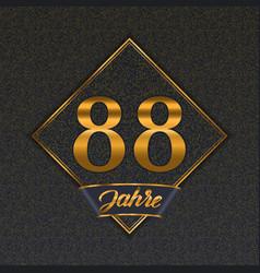 German golden number 88 templates vector