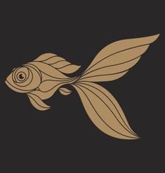 Goldfish Logo vector image