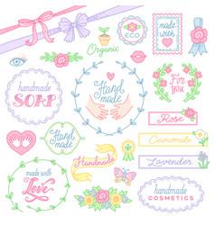 handmade cosmetics design vector image