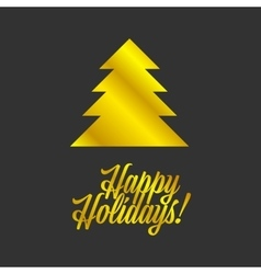Happy Holiday sign vector image