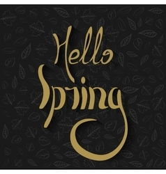 Hello spring Lettering vector