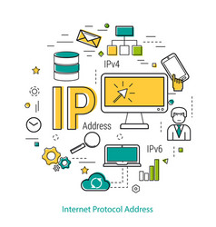 Ip address - line concept vector