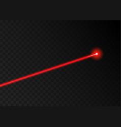 laser beam red light beam line ray vector image