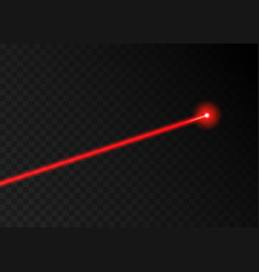 laser beam red light laser beam line ray vector image