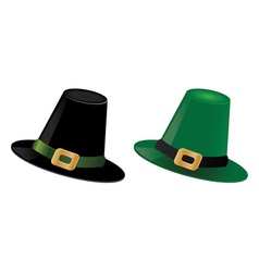 Leprechaun hats vector image