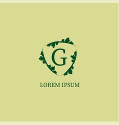Letter g alphabetic logo design template vector
