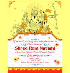 lord ram sita laxmana hanuman and ravana in ram vector image