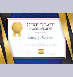 Luxury certificate template with elegant golden vector