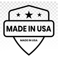 Manufactured or made in usa seal - line art icon vector