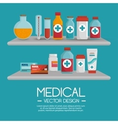 Medical collection pharmaceutical products vector