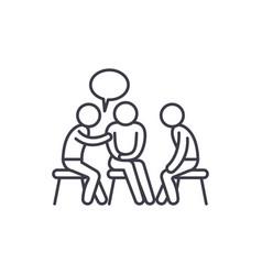 Mentorship line icon concept mentorship vector