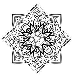 Oriental simple mandala vector