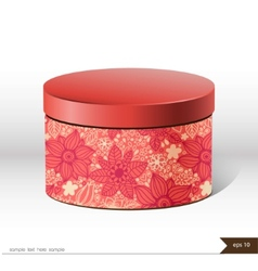 Packaging gift box on isolated background vector