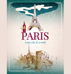Paris retro poster vector