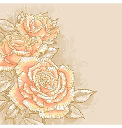 Pink roses on toned background vector