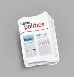 politics newspaper press icon vector image
