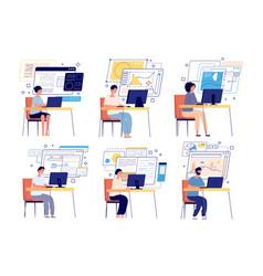 programmers and developers computer game designer vector image