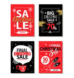 Really big christmas sale vector