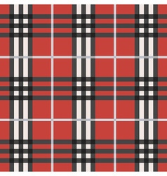 Red black and white plaid pattern background vector