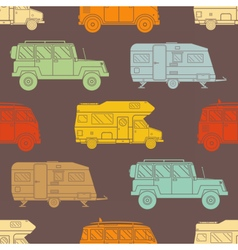 Rv Travel Pattern Background vector