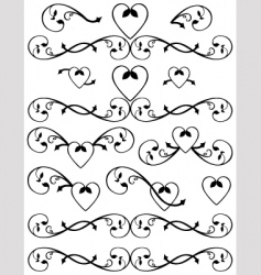 scroll set vector image