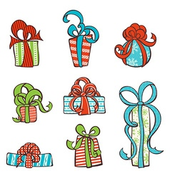 Set of hand-drawn gifts vector