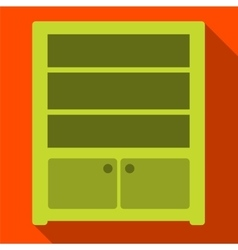 Sideboard flat icon vector image vector image