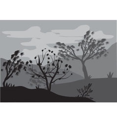 Silhouettes of trees by storms vector