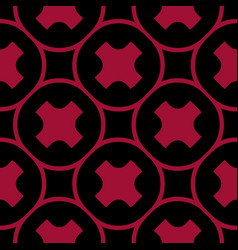 simple seamless pattern with big crosses circles vector image