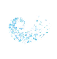 Snowflakes twisted in vortex vector