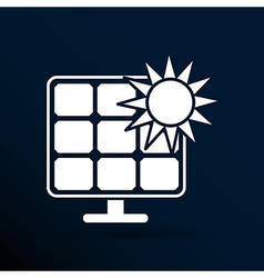 Solar energy panel icon sun power vector image