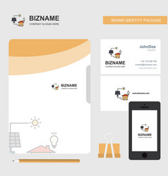 solar panel business logo file cover visiting vector image