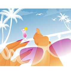 summer resting vector image