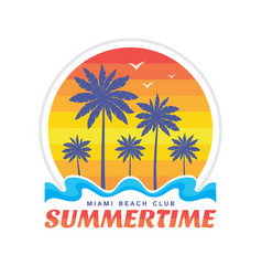 summertime miami beach club vector image