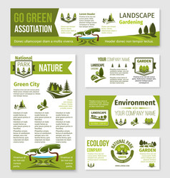 Templates for green eco environment company vector