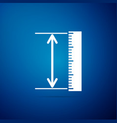 the measuring height and length icon isolated vector image