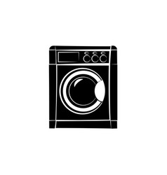 Washer icon black on white background vector