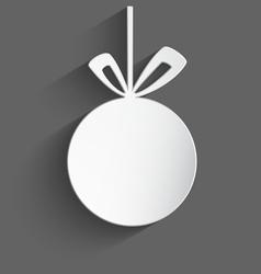 white 3d christmas ball vector image