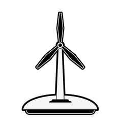 wind turbine green energy vector image