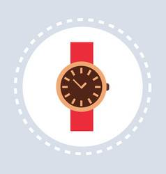Women wrist watch elegant clock shopping icon vector