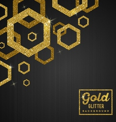Black banners with golden glitter elements vector