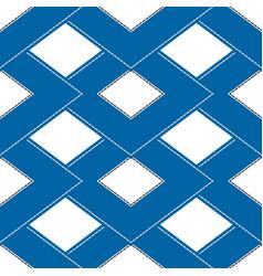 Geometric seamless pattern double rhombuses vector