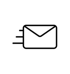 thin line envelope icon vector image