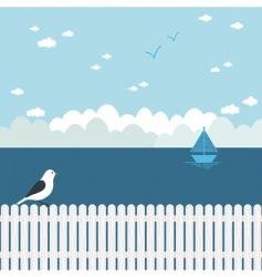 blue seascape vector image vector image
