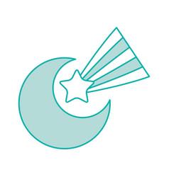 cute moon shooting star vector image vector image